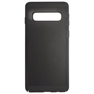 Husa Hard pentru Samsung Galaxy S10 Plus Negru - Model Perforat