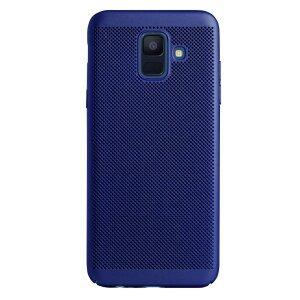 Husa hard Samsung Galaxy A6 2018 Albastru - Model perforat