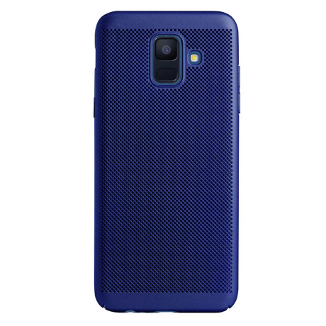 Husa hard Samsung Galaxy A6 2018 Albastru - Model perforat