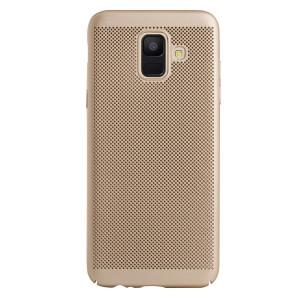 Husa hard Samsung Galaxy A6 2018 Auriu- Model perforat