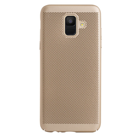Husa hard Samsung Galaxy A6 2018 Auriu- Model perforat