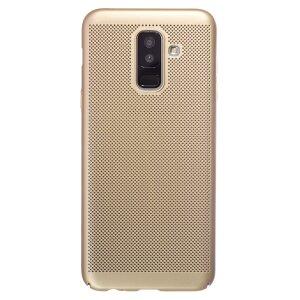 Husa Hard Samsung Galaxy A6 Plus 2018 Auriu- Model perforat