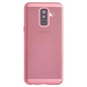 Husa hard Samsung Galaxy A6 Plus Roz - Model perforat