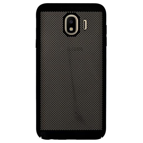 Husa hard Samsung Galaxy J4 2018 Negru- Model perforat