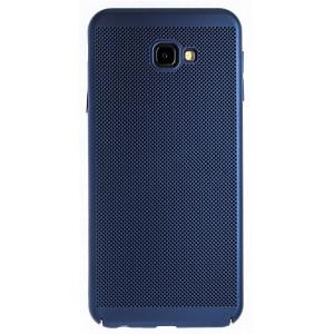 Husa hard Samsung Galaxy J4 Plus Albastru- Model perforat