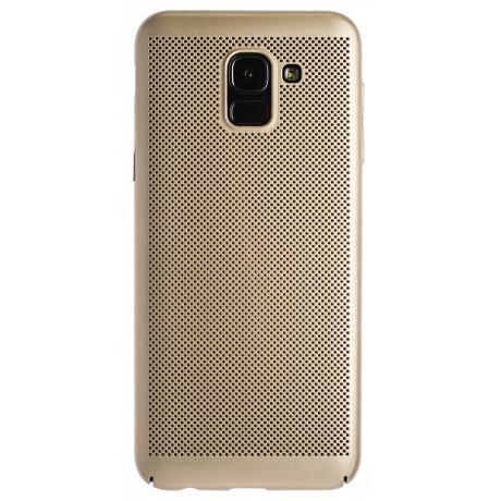 Husa hard Samsung Galaxy J6 2018-Auriu Model perforat