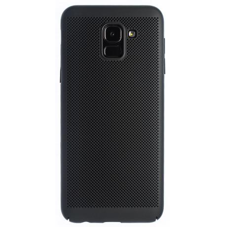 Husa hard Samsung Galaxy J6 2018-Negru Model perforat