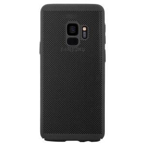 Husa hard Samsung Galaxy S9 Negru - Model perforat