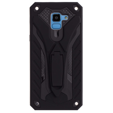 Husa Hybrid Samsung Galaxy J6 2018 Suport stand Neagra