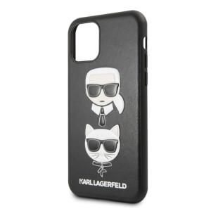 Husa iPhone 11 Karl Lagerfeld & Choupette Hard Case PU Neagra