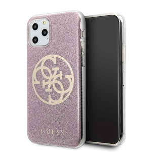 Husa iPhone 11 Pro, Circle Glitter, Guess Roz