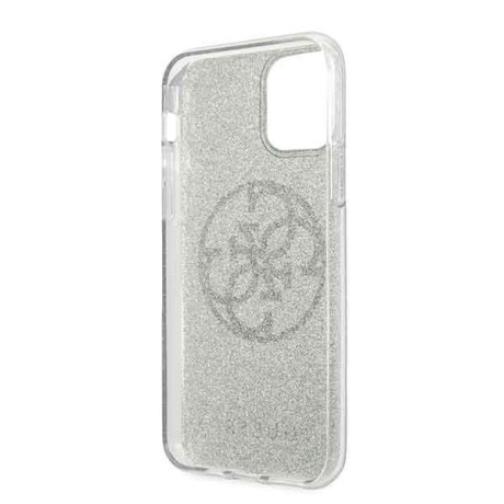 Husa iPhone 11 Pro, Circle Glitter, Guess Verde