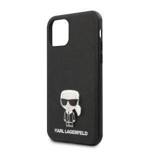 Husa iPhone 11 Pro Max, Karl Lagerfeld Saffiano Iconik Negru