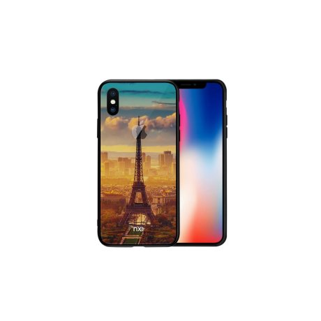 Husa iPhone X, Pattern Printing Rock, Eiffel Tower