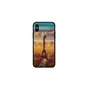 Husa pentru iPhone X, Pattern Printing Rock, Eiffel Tower