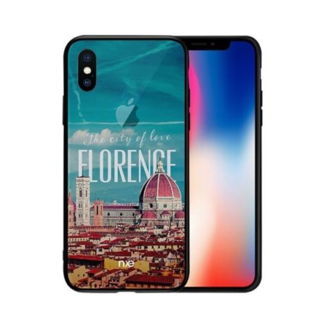Husa pentru iPhone X, Pattern Printing Rock,  Florence