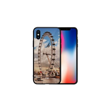Husa iPhone X, Pattern Printing Rock,  Sky Wheel
