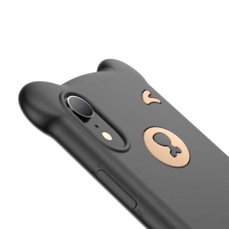 Husa iPhone XR Bear Silicone Negru Baseus