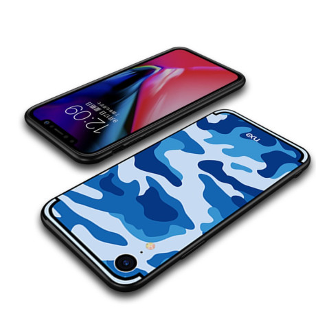 Husa iPhone XR Camouflage Pattern Albastra NXE