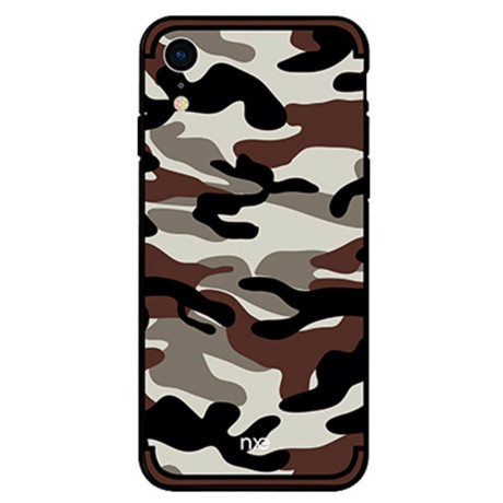 Husa iPhone XR Camouflage Pattern Maro Inchis NXE