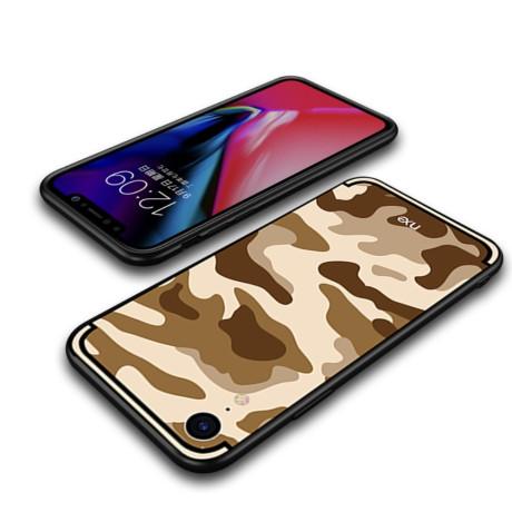 Husa iPhone XR Camouflage Pattern Maro NXE