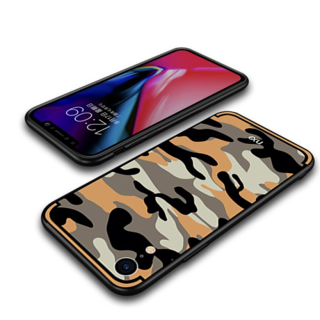 Husa iPhone XR Camouflage Pattern Portocalie NXE