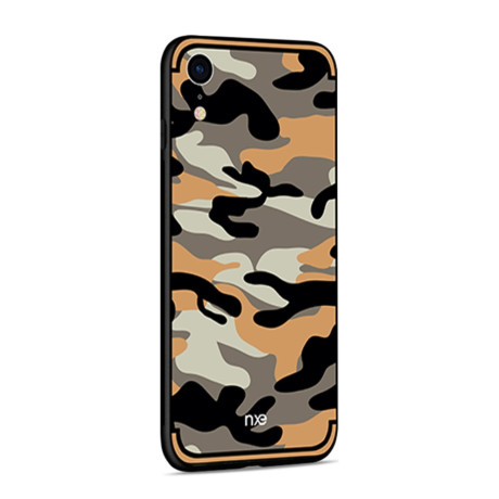 Husa iPhone XR 6.1'' Camouflage Pattern Portocalie NXE