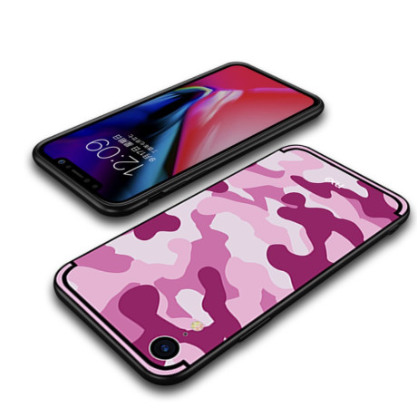 Husa iPhone XR 6.1'' Camouflage Pattern Roz NXE