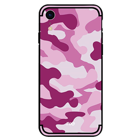 Husa iPhone XR Camouflage Pattern Roz NXE
