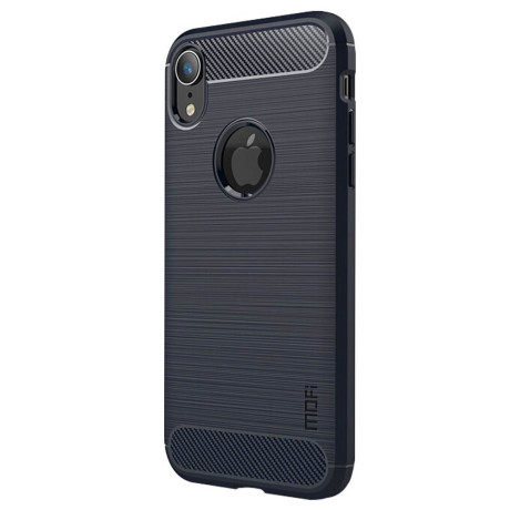 Husa iPhone XR 6.1'' Carbon Fiber Mofi, Albastra
