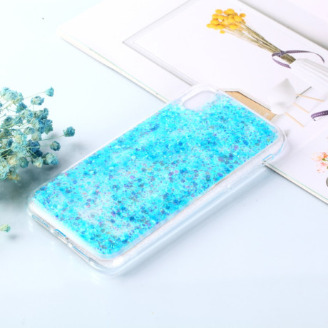Husa iPhone XR Changing Sequins Albastra
