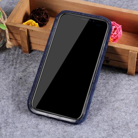 Husa  iPhone XR 6.1'' Fluffy Fur Albastru Inchis