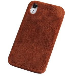 Husa iPhone XR Fluffy Fur Maro