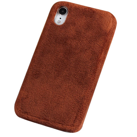 Husa iPhone XR 6.1'' Fluffy Fur Maro