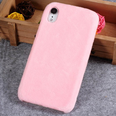 Husa  iPhone XR 6.1'' Fluffy Fur Roz Deschis