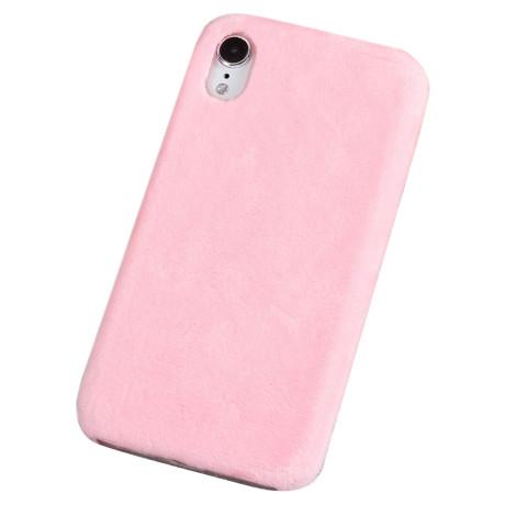 Husa  iPhone XR 6.1'' Fluffy Fur Roz Deschis