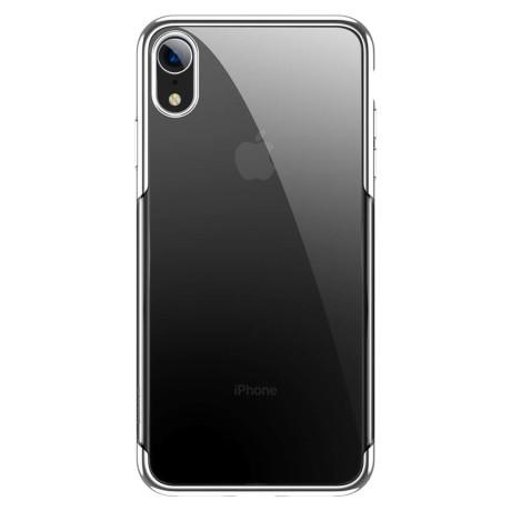Husa pentru iPhone Glitter Electroplated, Baseus Alba