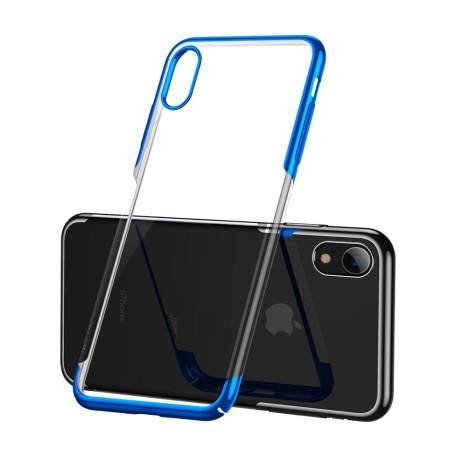 Husa hard pentru iPhone XR Glitter Electroplated, Baseus Albastra