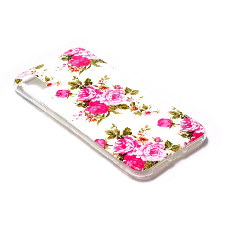 Husa iPhone XR 6.1'', Luminous Patterned, Blooming Peonies