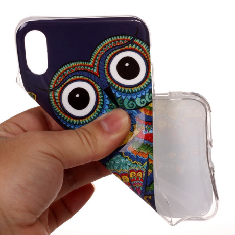 Husa iPhone XR 6.1'', Luminous Patterned, Colorful Owl