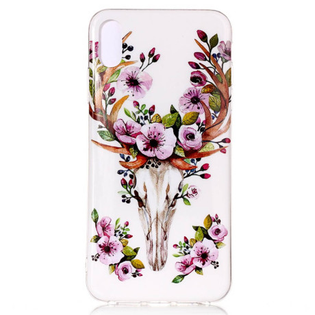Husa iPhone XR Luminous Patterned Flowered Elk