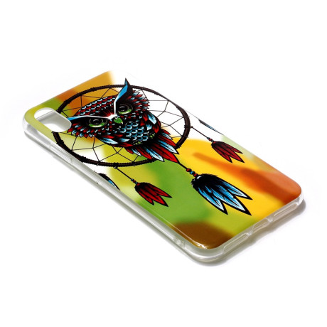 Husa iPhone XR, Luminous Patterned, Owl