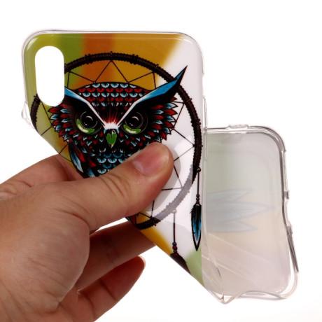 Husa iPhone XR 6.1'', Luminous Patterned, Owl