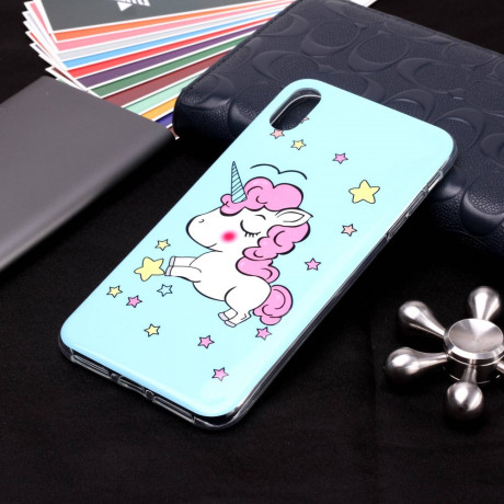 Husa iPhone XR, Luminous Patterned, Unicorn
