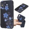 Husa iPhone XR 6.1'', Printing Embossed, Beautiful Flowers