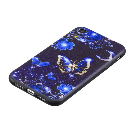 Husa iPhone XR Printing Embossed Blue Butterfly