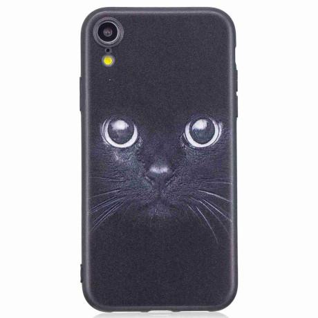 Husa iPhone XR Printing Embossed Cat
