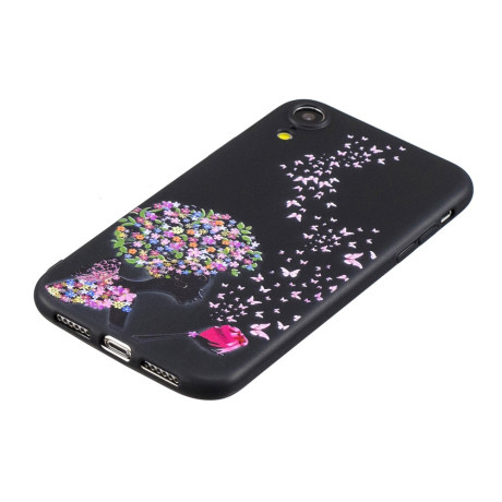 Husa iPhone XR 6.1'' Printing Embossed Flower and Butterfly