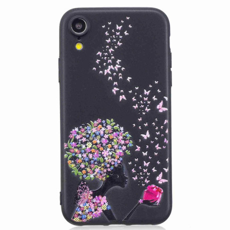 Husa iPhone XR Printing Embossed Flower and Butterfly