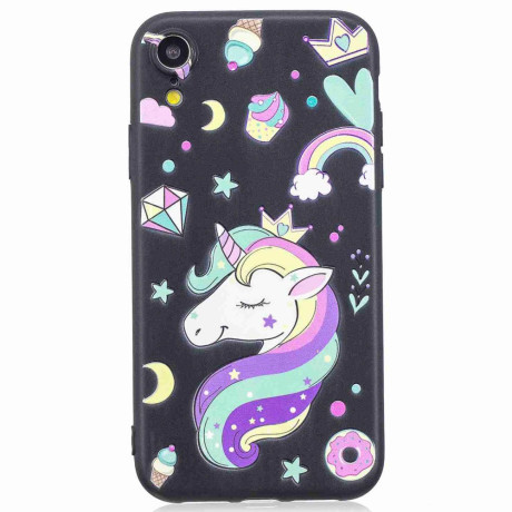 Husa iPhone XR 6.1'', Printing Embossed, Unicorn